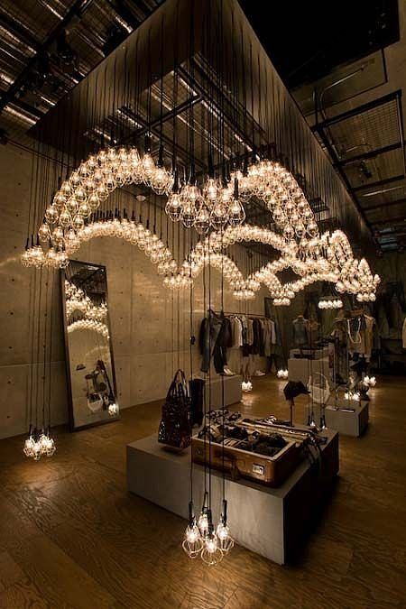 освещение в магазин одежды