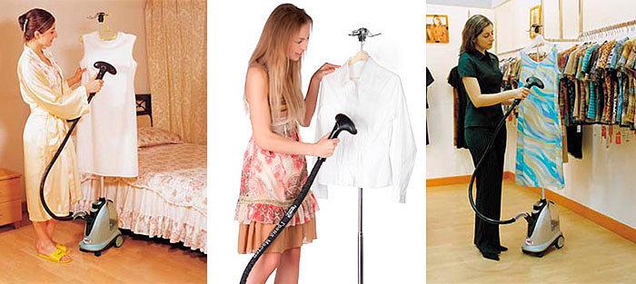 виды отпариваетелей для одежды