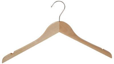 вешалка плечики для одежды деревянная без перекладины 76ru